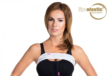 How to put formed LIPOELASTIC® breast band on properly?