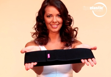 How to put on LIPOELASTIC® breast band properly?