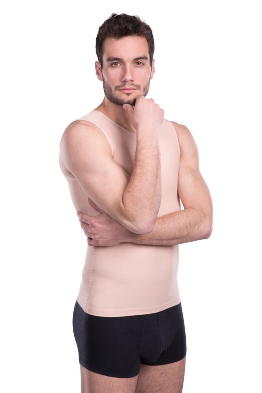 Mens shapewear slimming vest - Lipoelastic.com