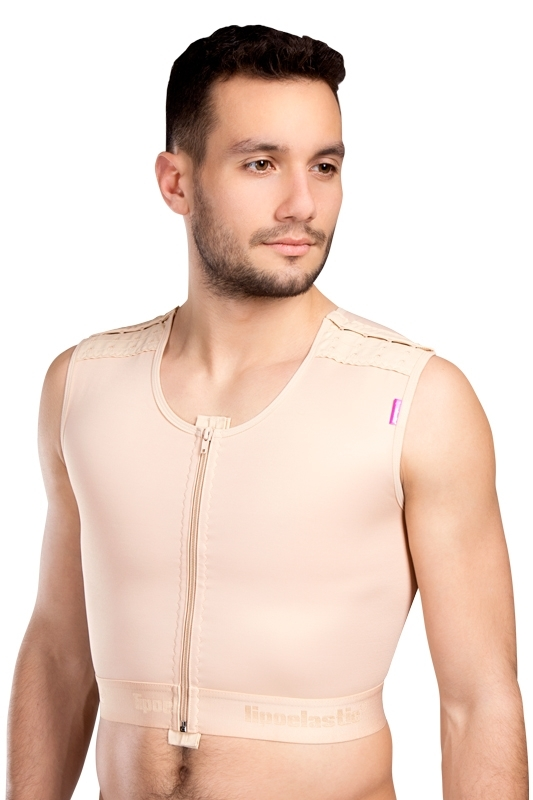 Mens compression gynecomastia vest MTmS Comfort - Lipoelastic.com